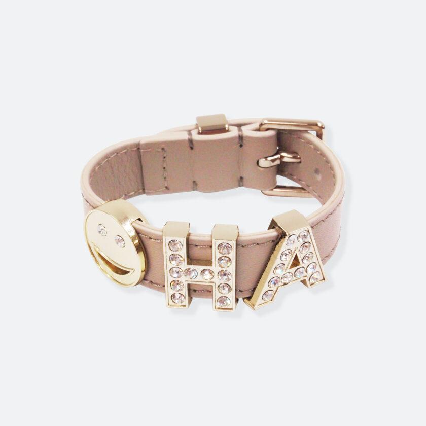 OhMart People by People - Playful Customizable leather Bracelet (Mocha Brown) 1