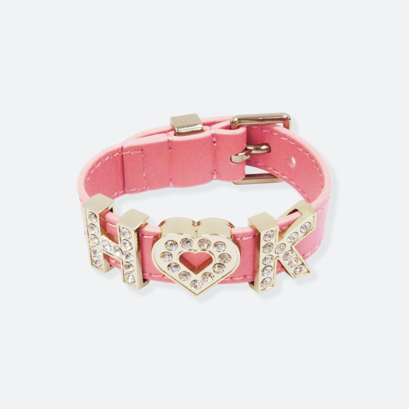 OhMart People by People - Playful Customizable leather Bracelet (Pink) 1