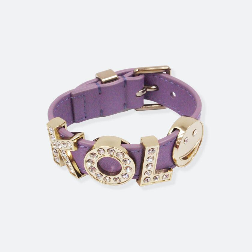 OhMart People by People - Playful Customizable leather Bracelet (Purple) 1