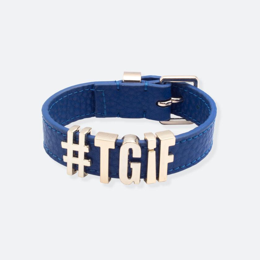 OhMart People by People - Playful Customizable leather Bracelet (Blue) 1