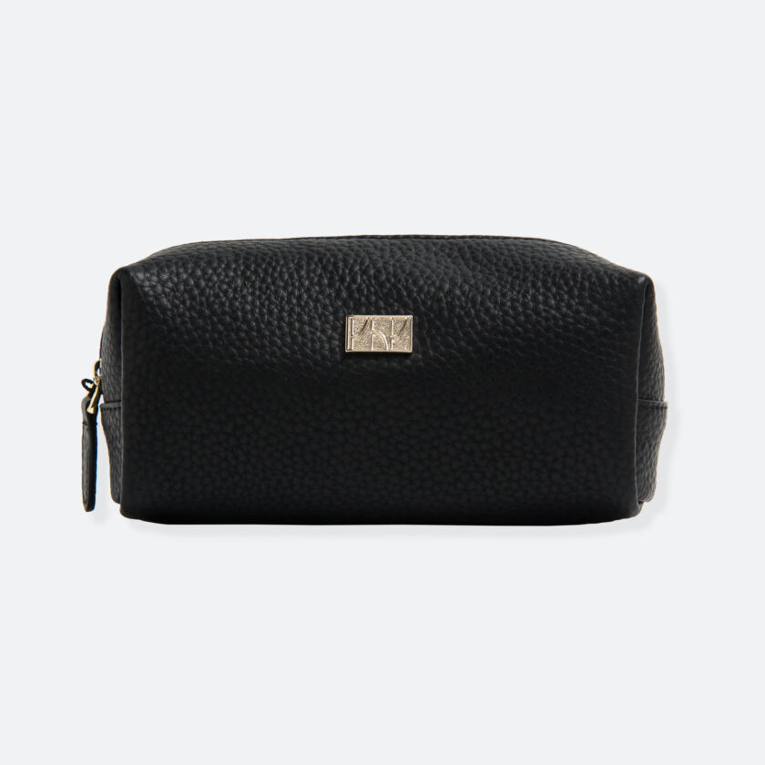 OhMart People By People - Leather Pencil Case / Make-Up Bag ( SLG006 - Black ) 1