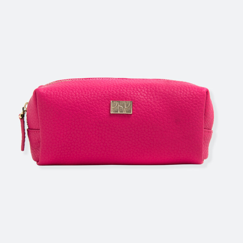 OhMart People By People - Leather Pencil Case / Make-Up Bag ( SLG006 - Peach ) 1