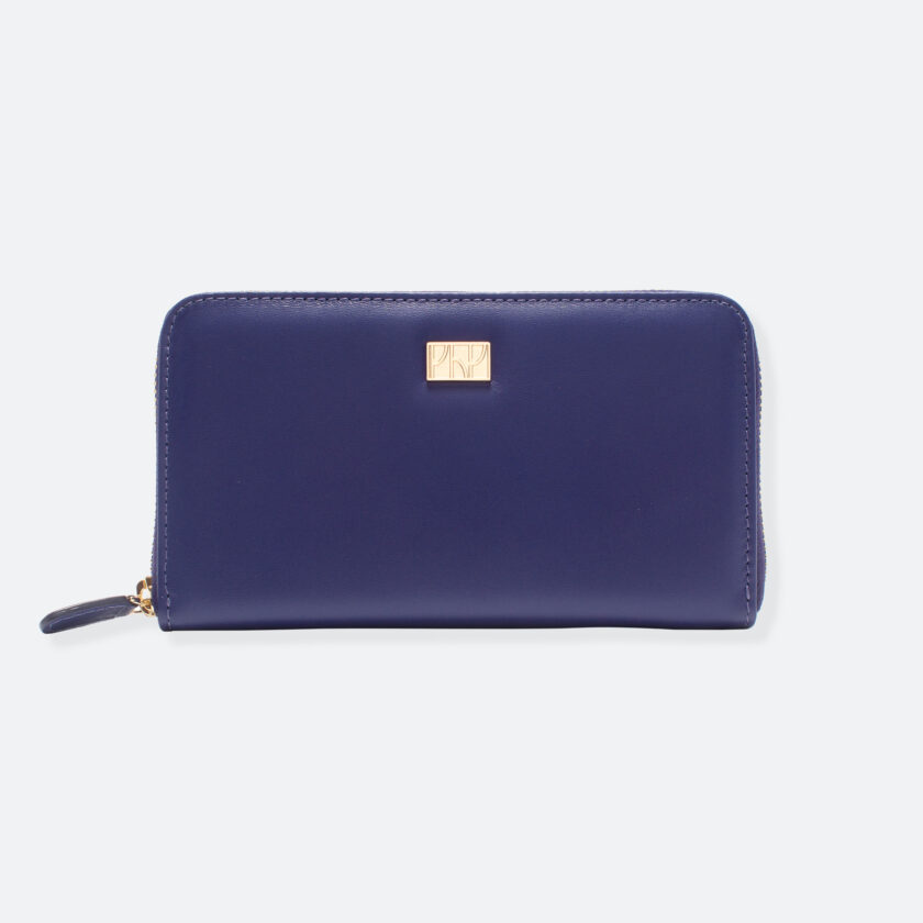 OhMart People By People - Leather Zip-Around Wallet ( SLG008 - Deep Blue ) 1
