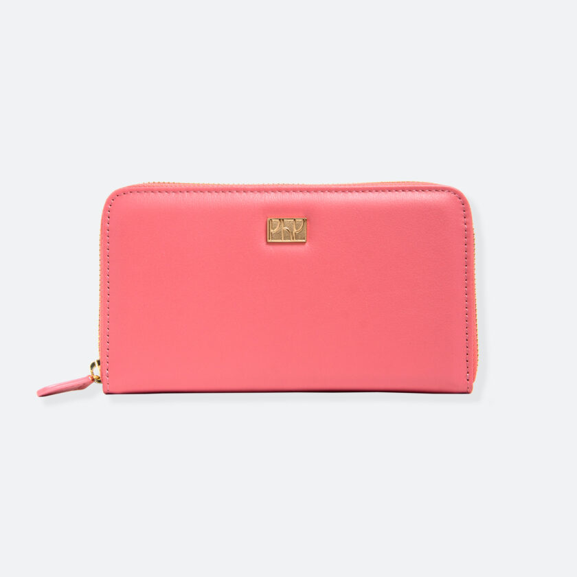 OhMart People By People - Leather Zip-Around Wallet ( SLG008 - Pink ) 1
