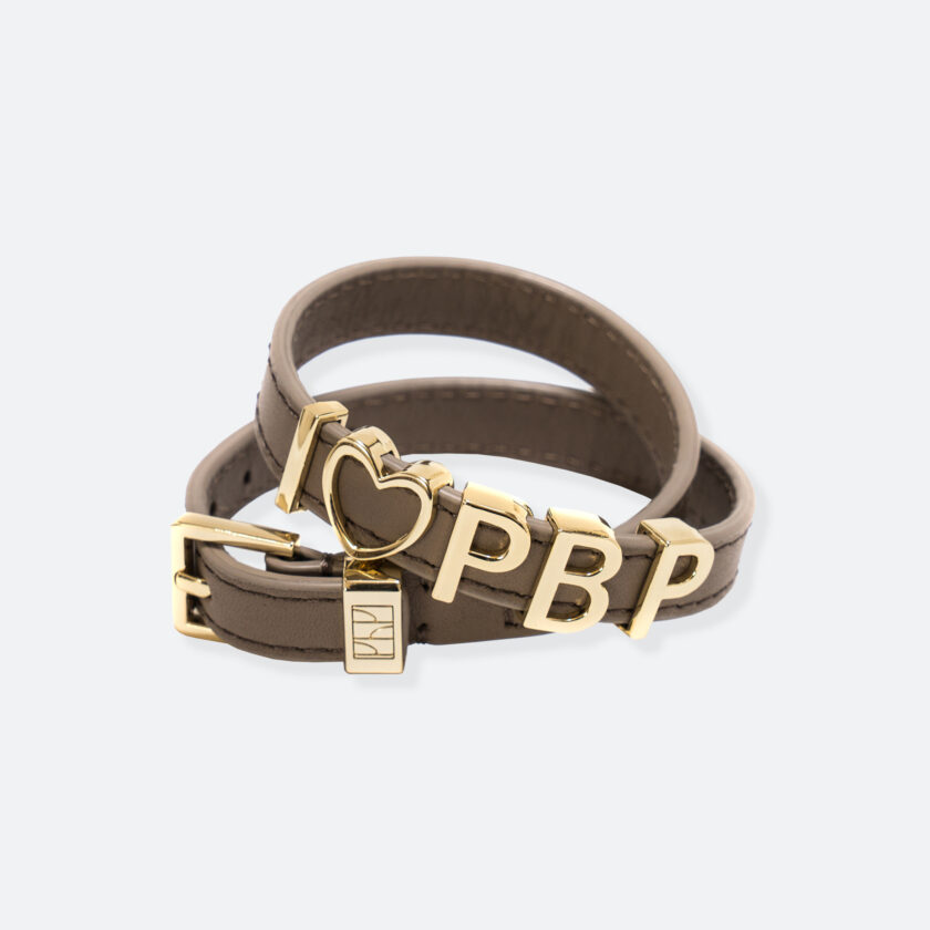 OhMart People by People - SLG011 Customizable leather Bracelet (Mcoha Brown) 1