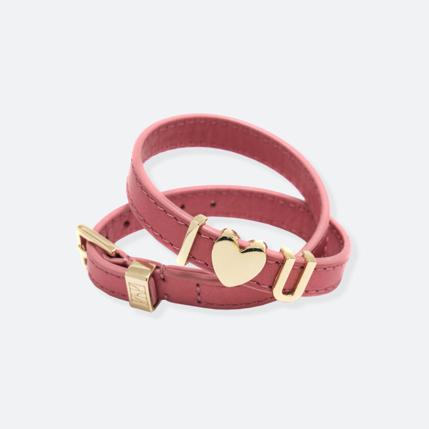OhMart People by People - SLG011 Customizable leather Bracelet (Pink) 1
