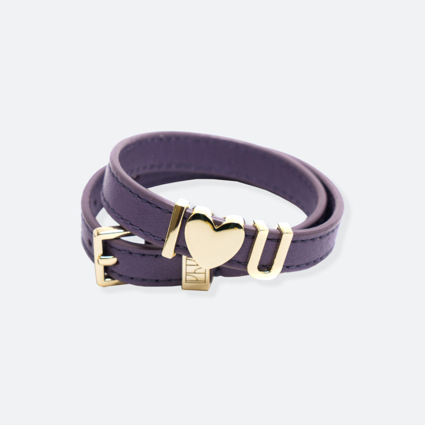 OhMart People by People - SLG011 Customizable leather Bracelet (Purple) 1