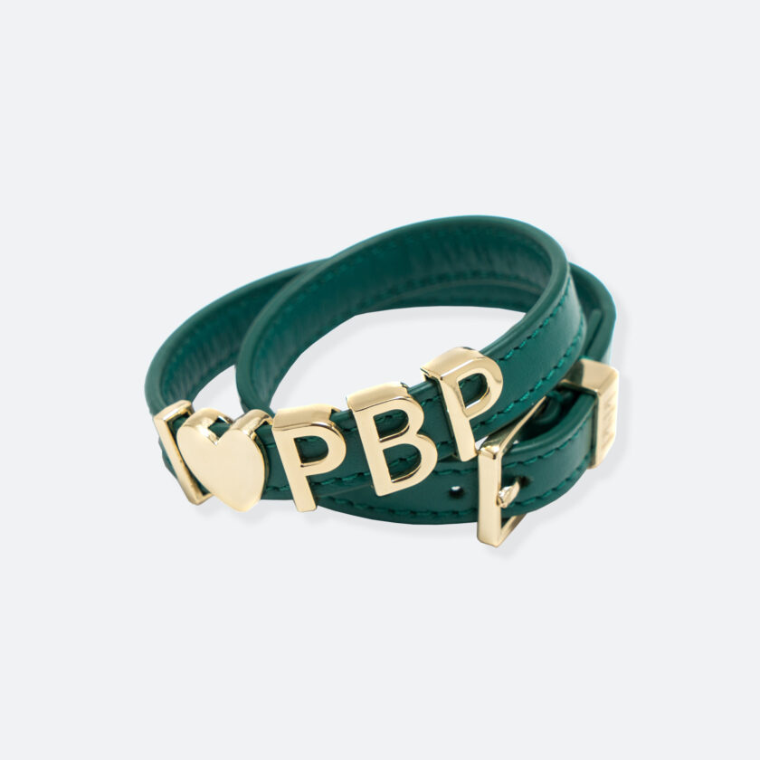 OhMart People by People - SLG011 Customizable leather Bracelet (Green) 1
