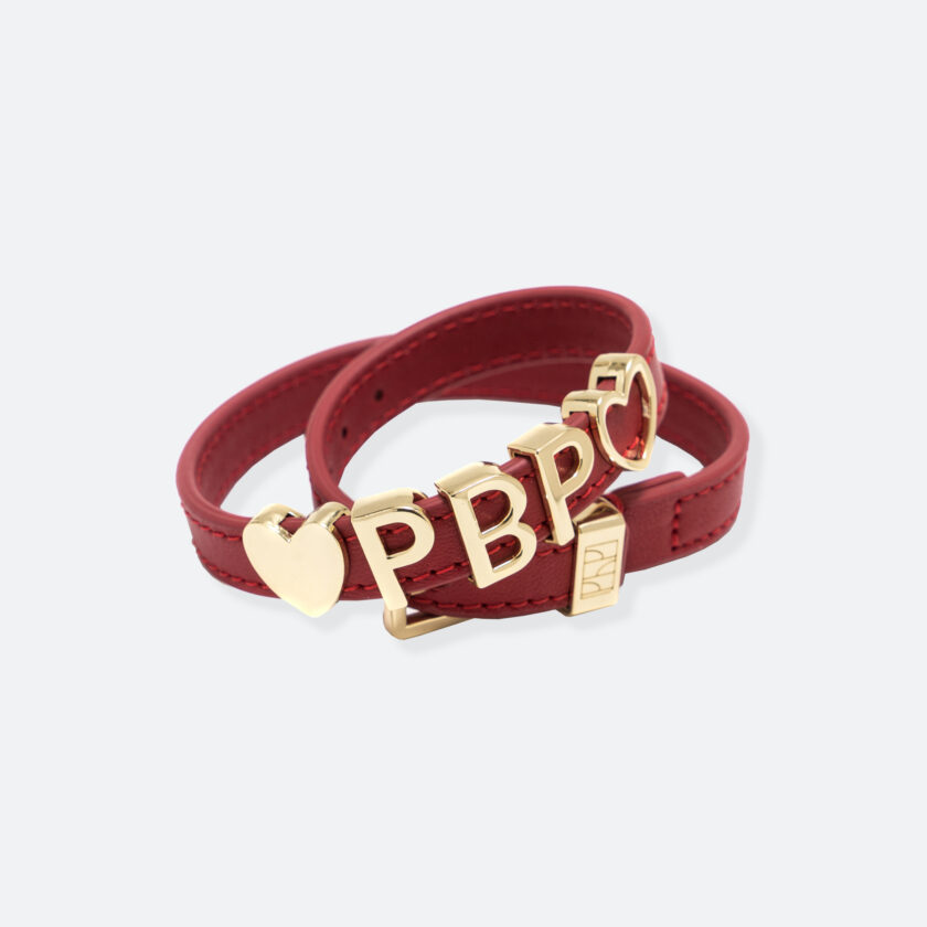 OhMart People by People - SLG011 Customizable leather Bracelet (Red) 1