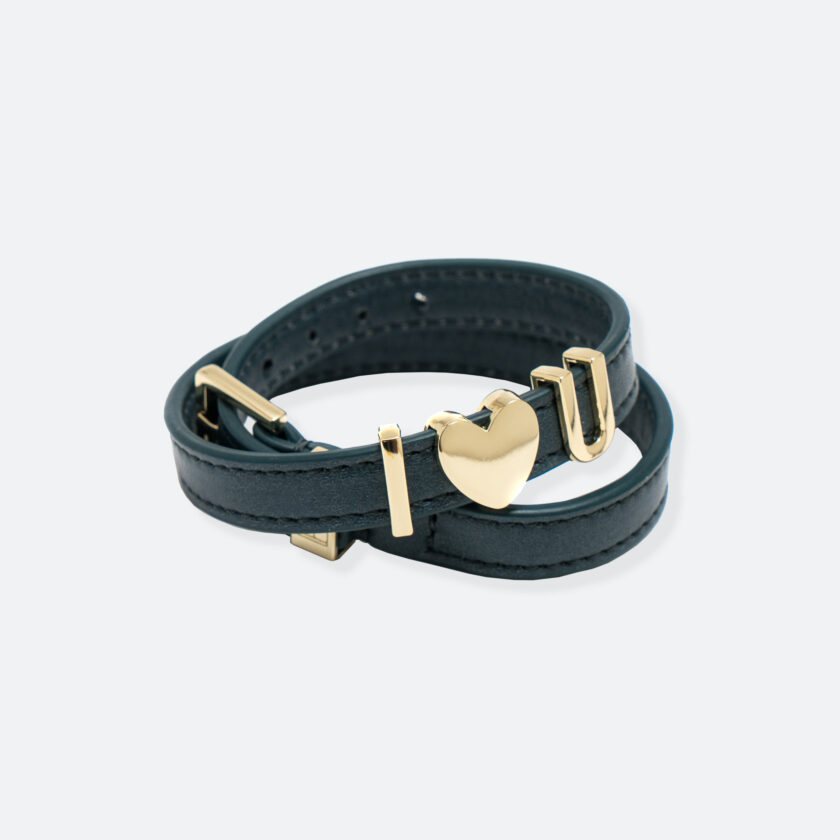 OhMart People by People - SLG011 Customizable leather Bracelet (Deep Green) 1