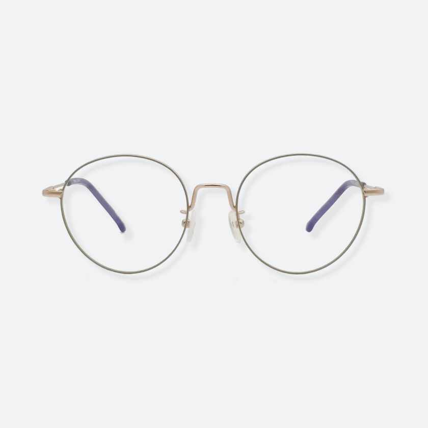 OhMart Textura - Round Metal Optical Glasses ( TMM018 - Gold ) 1