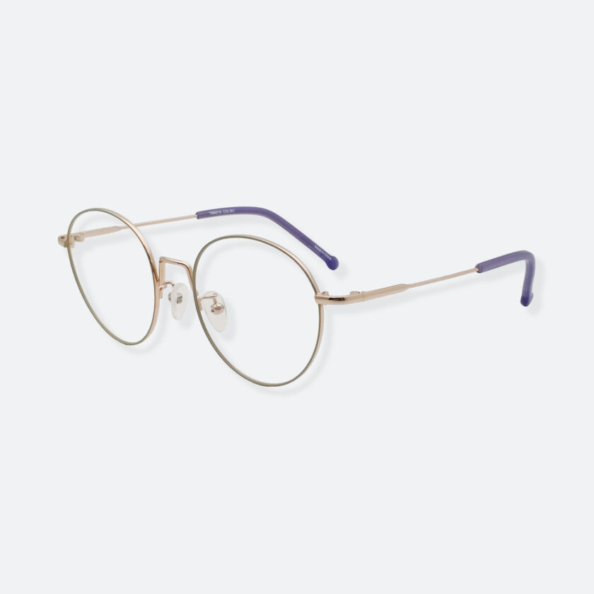 OhMart Textura - Round Metal Optical Glasses ( TMM018 - Gold ) 2