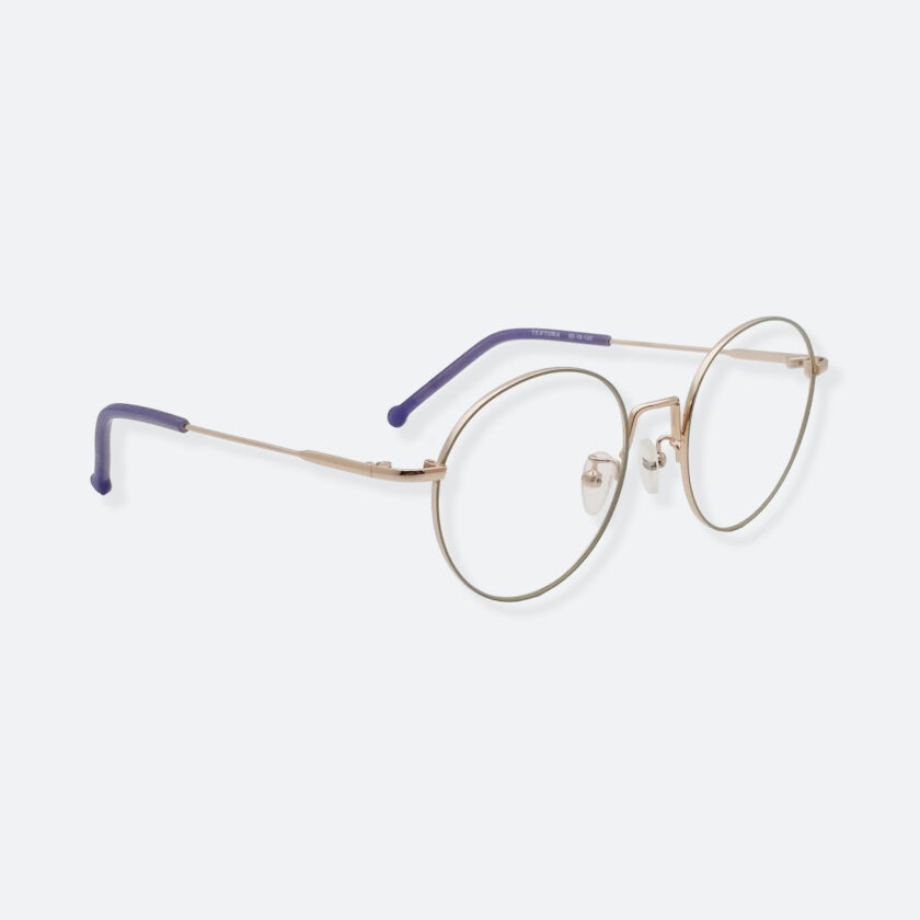 OhMart Textura - Round Metal Optical Glasses ( TMM018 - Gold ) 3