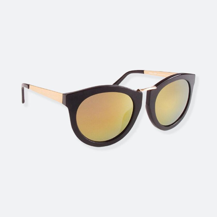OhMart People By People - Wayfarer Bold Frame Sunglasses ( DBD003 - Black / Yellow ) 2