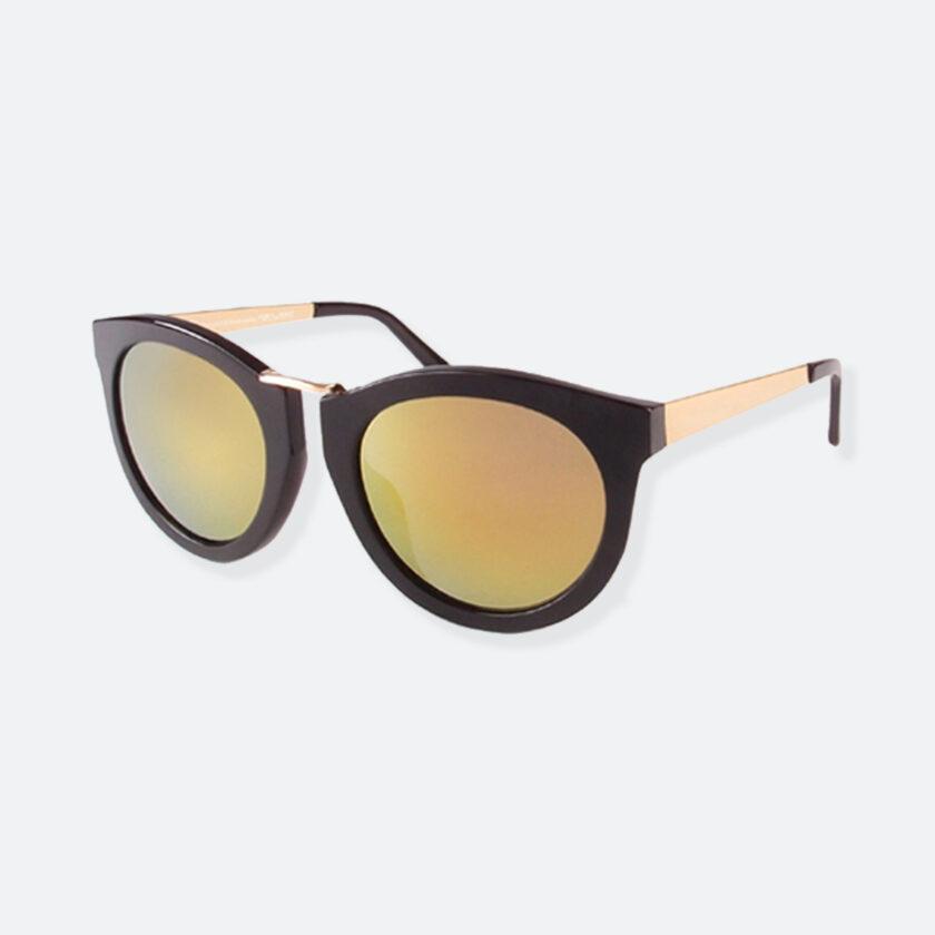 OhMart People By People - Wayfarer Bold Frame Sunglasses ( DBD003 - Black / Yellow ) 3