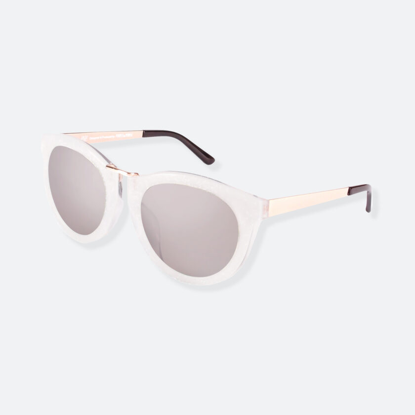 OhMart People By People - Wayfarer Bold Frame Sunglasses ( DBD003 - White / Grey ) 3