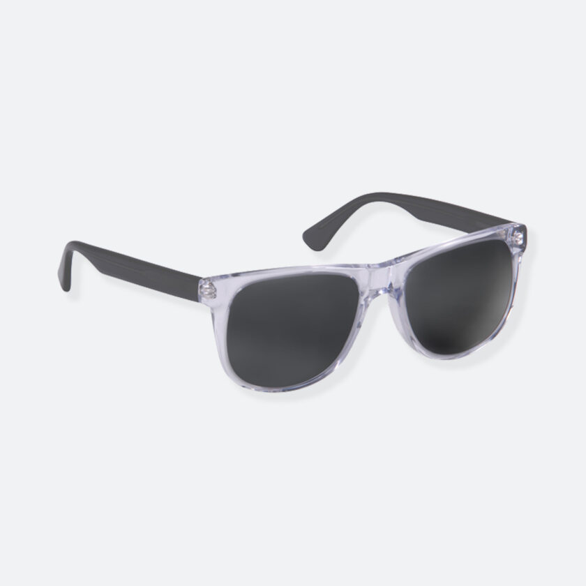 OhMart People By People - Round Acetate Sunglasses ( DBD004A - Transparent Black ) 2