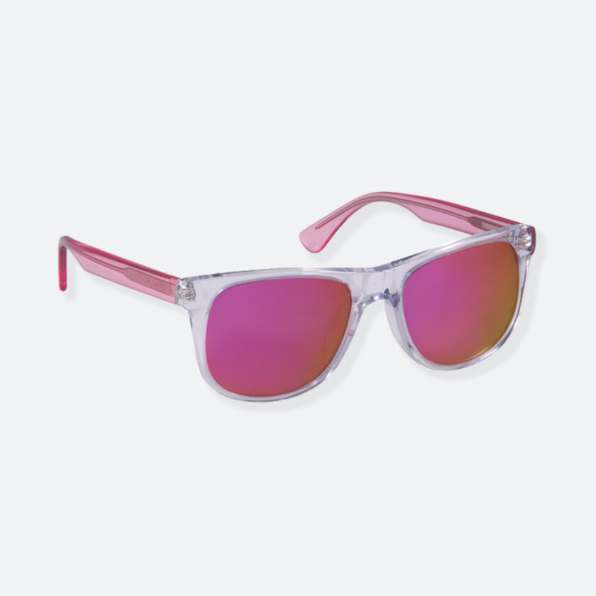 OhMart People By People - Round Acetate Sunglasses ( DBD004A - Transparent Pink ) 2