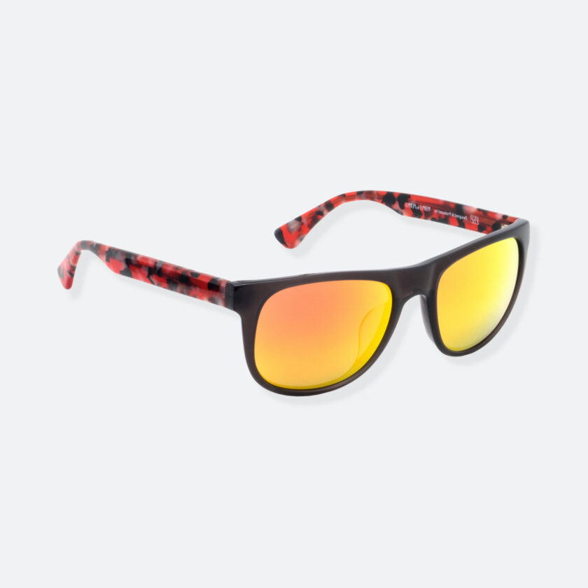 OhMart People By People - Round Acetate Sunglasses ( DBD004A - Black / Red ) 2