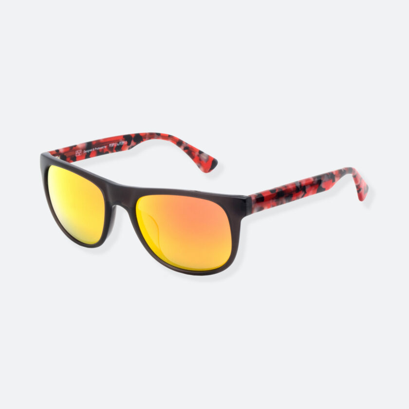 OhMart People By People - Round Acetate Sunglasses ( DBD004A - Black / Red ) 3