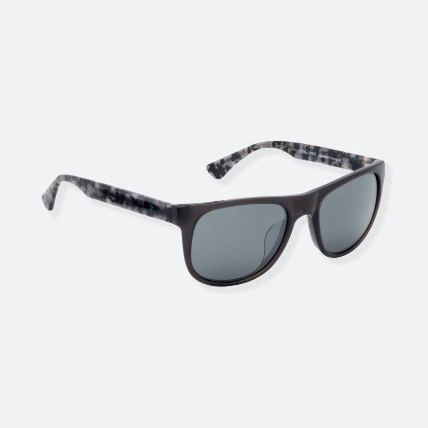 OhMart People By People - Round Acetate Sunglasses ( DBD004A - Black / Grey ) 2