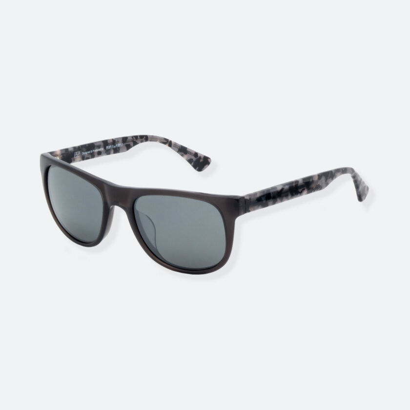 OhMart People By People - Round Acetate Sunglasses ( DBD004A - Black / Grey ) 3