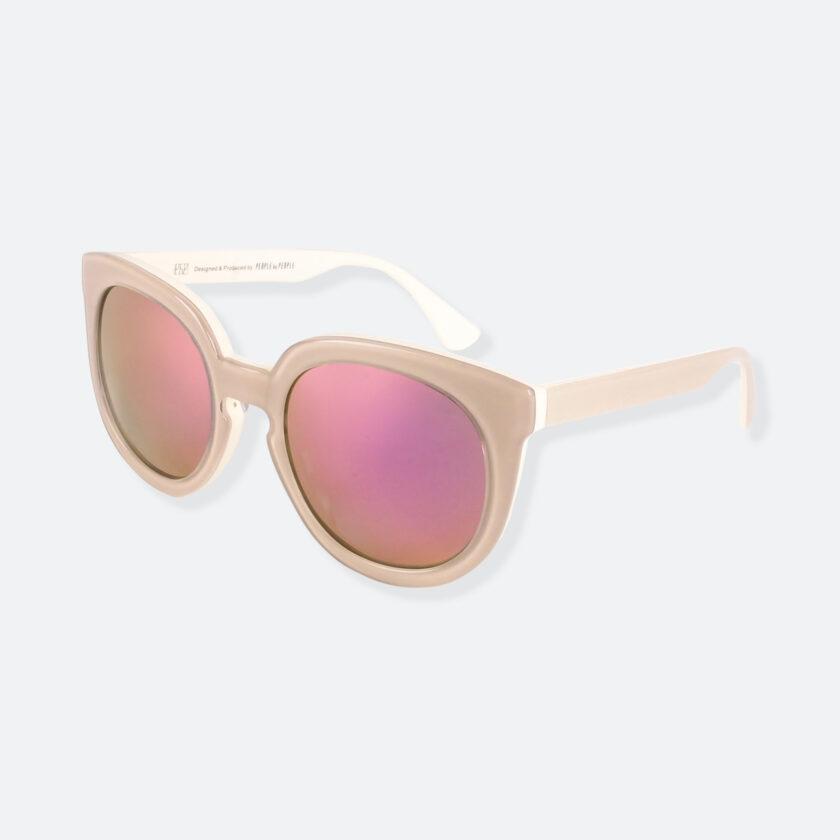 OhMart People By People - Wayfarer Round Acetate Sunglasses ( JFF002 - Khaki ) 3