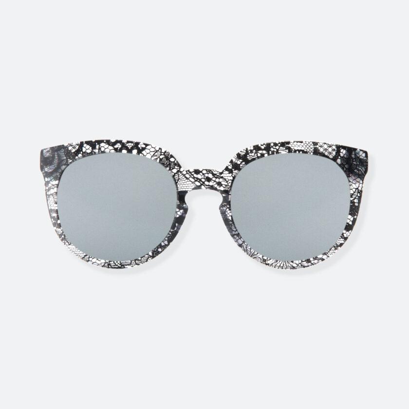 OhMart People By People - Wayfarer Round Acetate Sunglasses ( JFF002 - Transparent Black - Lace Pattern ) 1