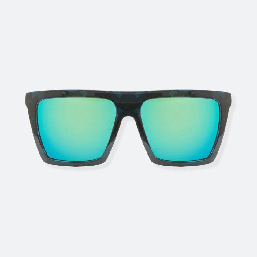 OhMart People By People - Square Shape Sunglasses ( JFF003B - Black / Blue ) 1