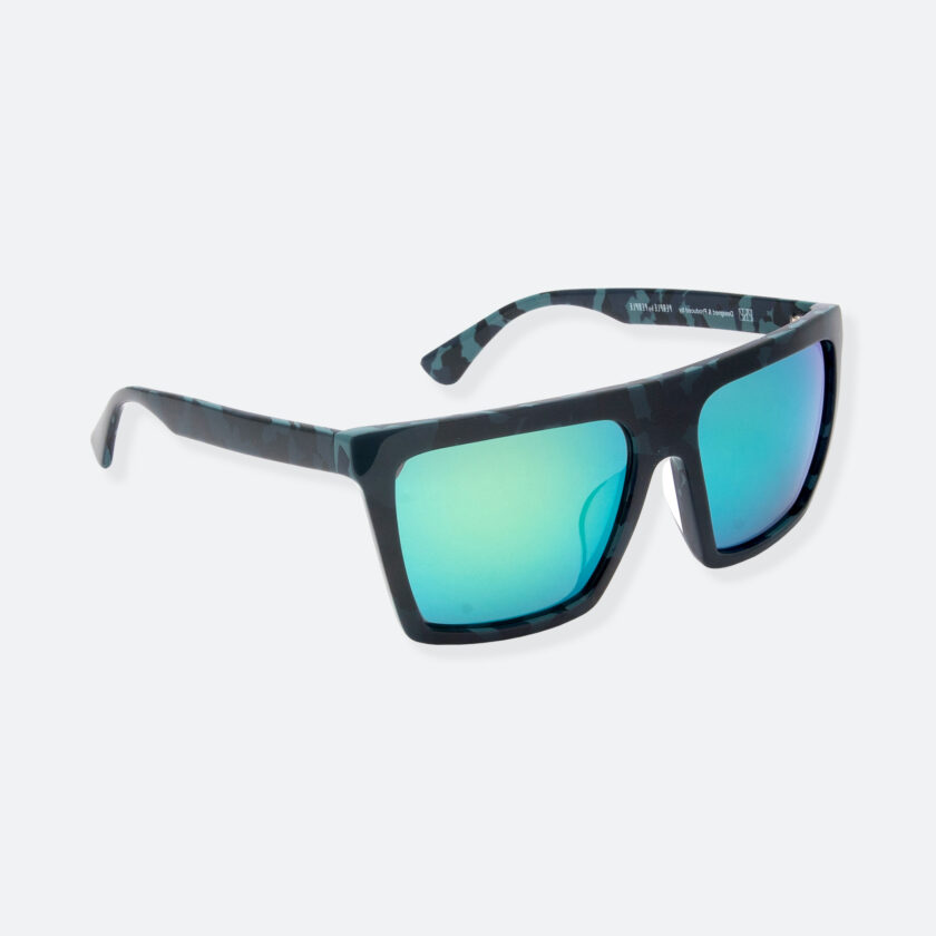 OhMart People By People - Square Shape Sunglasses ( JFF003B - Black / Blue ) 2