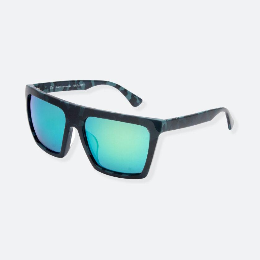 OhMart People By People - Square Shape Sunglasses ( JFF003B - Black / Blue ) 3
