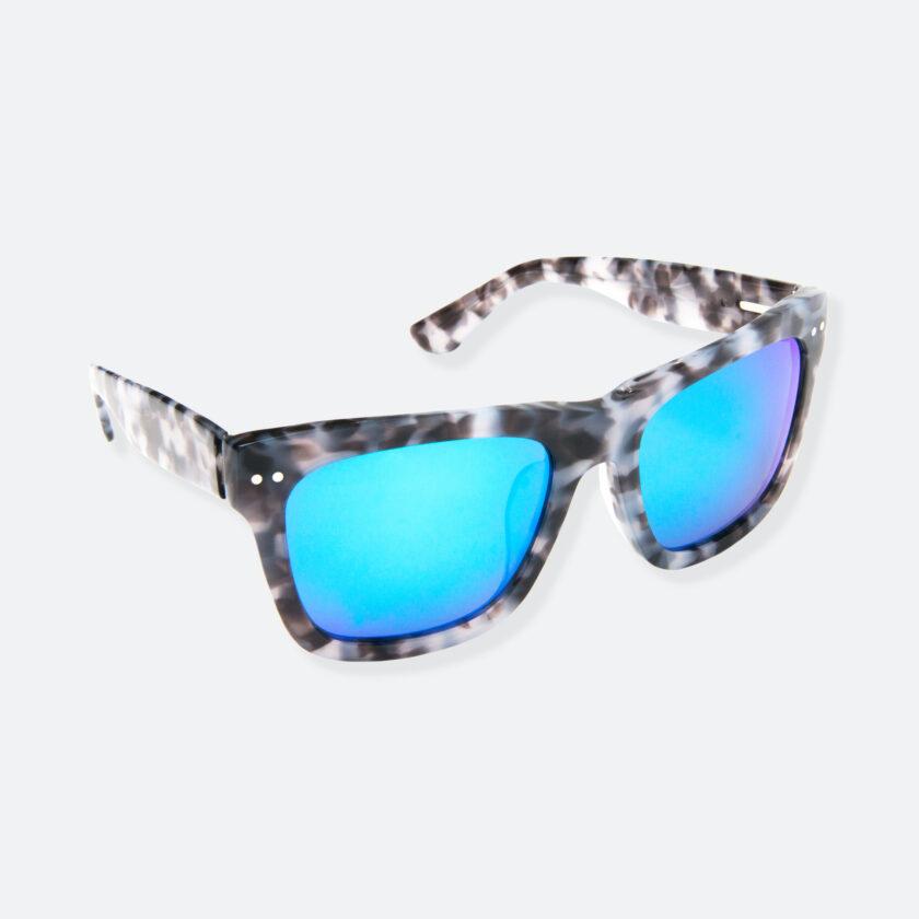 OhMart People By People - Wayfarer Acetate Sunglasses ( JFF008 - Tortoiseshell Blue Grey ) 2