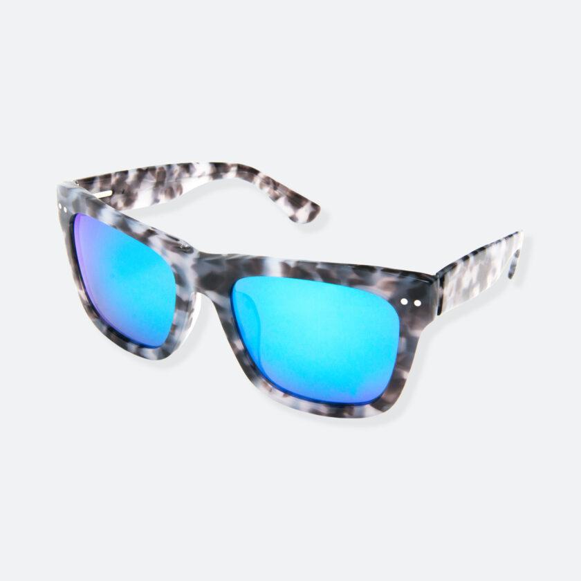 OhMart People By People - Wayfarer Acetate Sunglasses ( JFF008 - Tortoiseshell Blue Grey ) 3