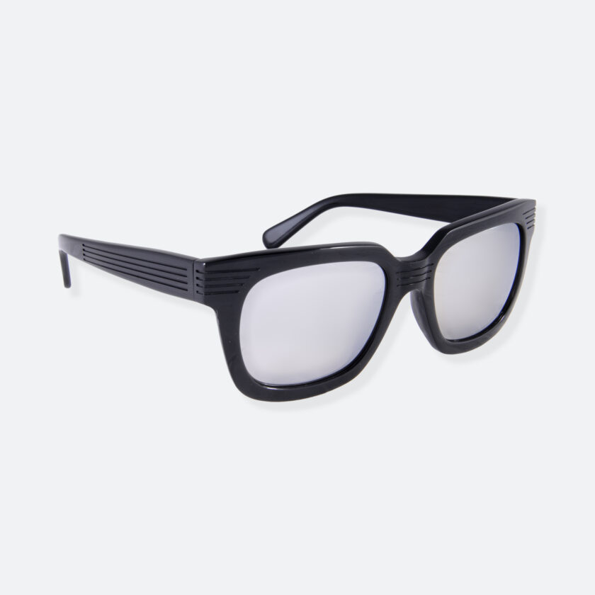 OhMart People By People - Wayfarer Bold Frame Acetate Sunglasses ( JFF009 - Black ) 2