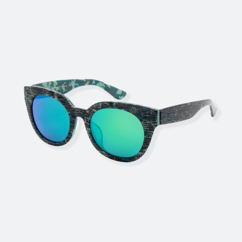 OhMart People By People - Cat Eyes Shape Acetate Frame Sunglasses ( Bravery - Green ) 3