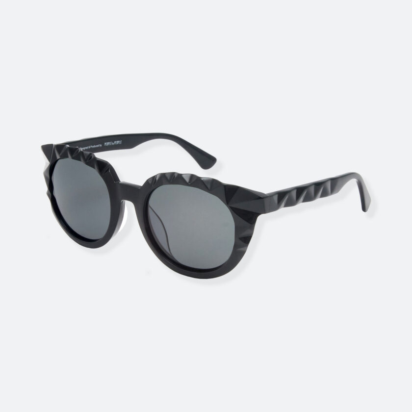OhMart People By People - Wayfarer Acetate Sunglasses ( Diamond - Black ) 3