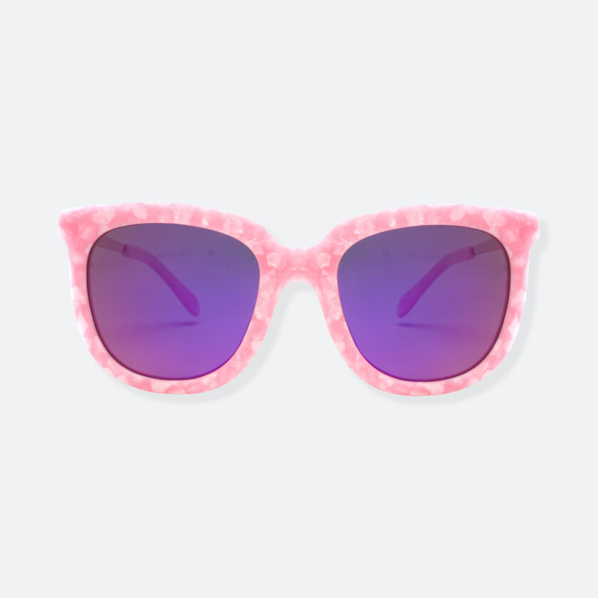 OhMart People By People - Wayfarer Bold Frame Acetate Sunglasses ( Jade - Pink ) 1