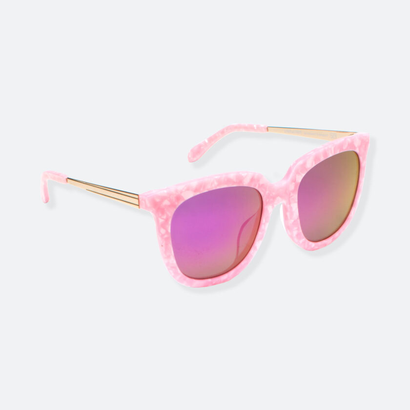 OhMart People By People - Wayfarer Bold Frame Acetate Sunglasses ( Jade - Pink ) 2