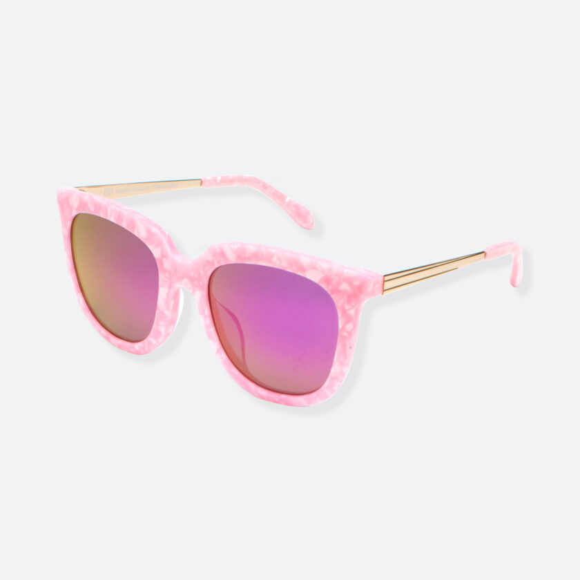 OhMart People By People - Wayfarer Bold Frame Acetate Sunglasses ( Jade - Pink ) 3
