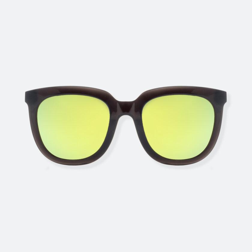 OhMart People By People - Wayfarer Bold Frame Acetate Sunglasses ( Jade - Black / Yellow ) 1