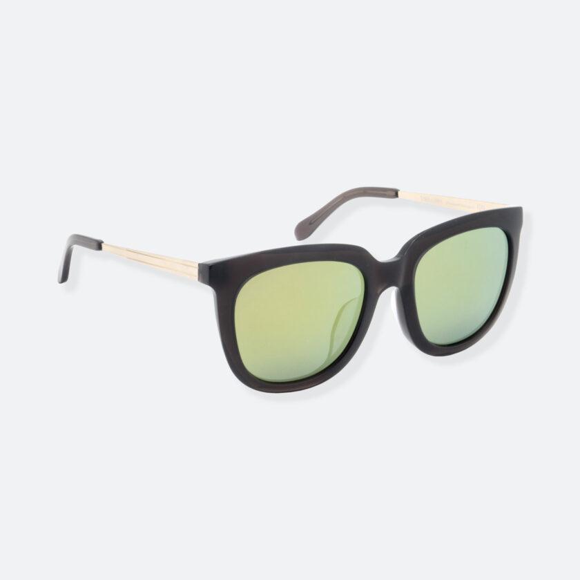 OhMart People By People - Wayfarer Bold Frame Acetate Sunglasses ( Jade - Black / Yellow ) 2