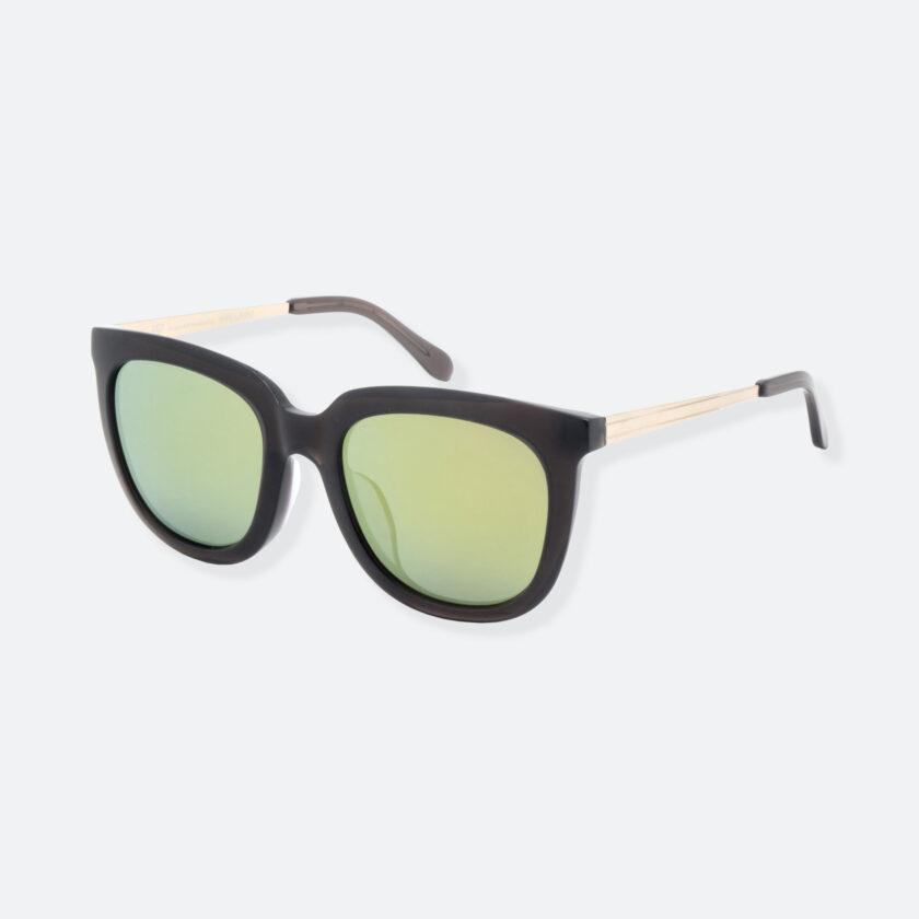 OhMart People By People - Wayfarer Bold Frame Acetate Sunglasses ( Jade - Black / Yellow ) 3