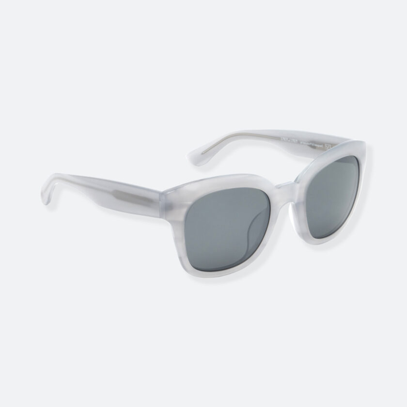 OhMart People By People - Round Acetate Sunglasses ( Greamy - Gray ) 2