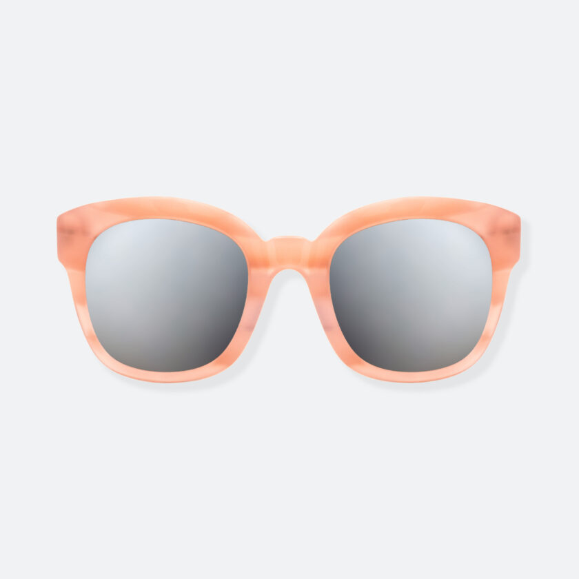 OhMart People By People - Round Acetate Sunglasses ( Greamy - Flesh ) 1