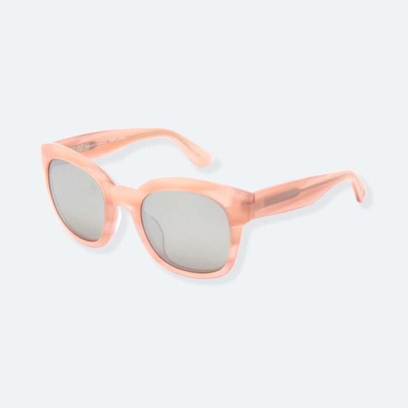 OhMart People By People - Round Acetate Sunglasses ( Greamy - Flesh ) 3