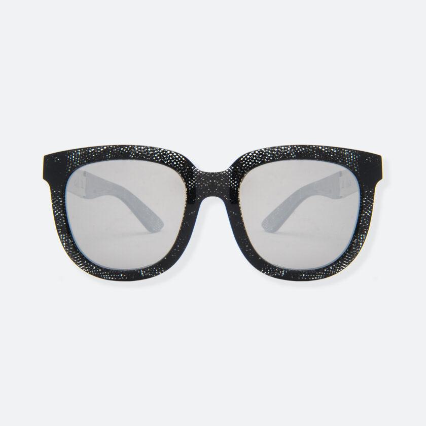 OhMart People By People - Wayfarer Acetate Sunglasses ( Energetic - Black Line Pattern ) 1