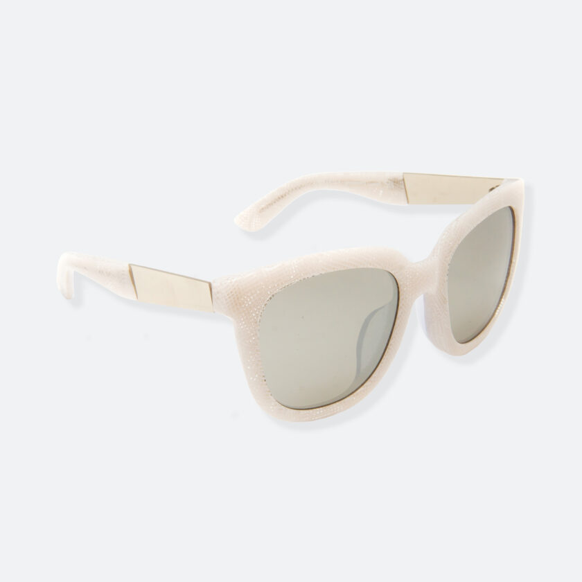 OhMart People By People - Wayfarer Acetate Sunglasses ( Energetic - White Line Pattern ) 2