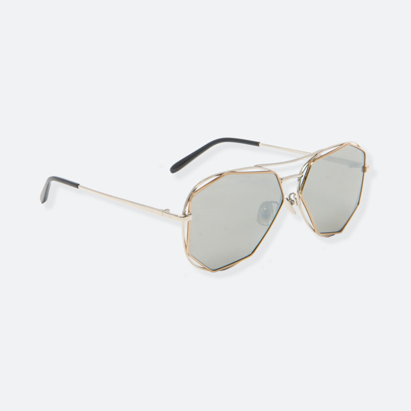 OhMart People By People - Aviator Sunglasses With Polarized Lens ( Big Eyes - Gold ) 2