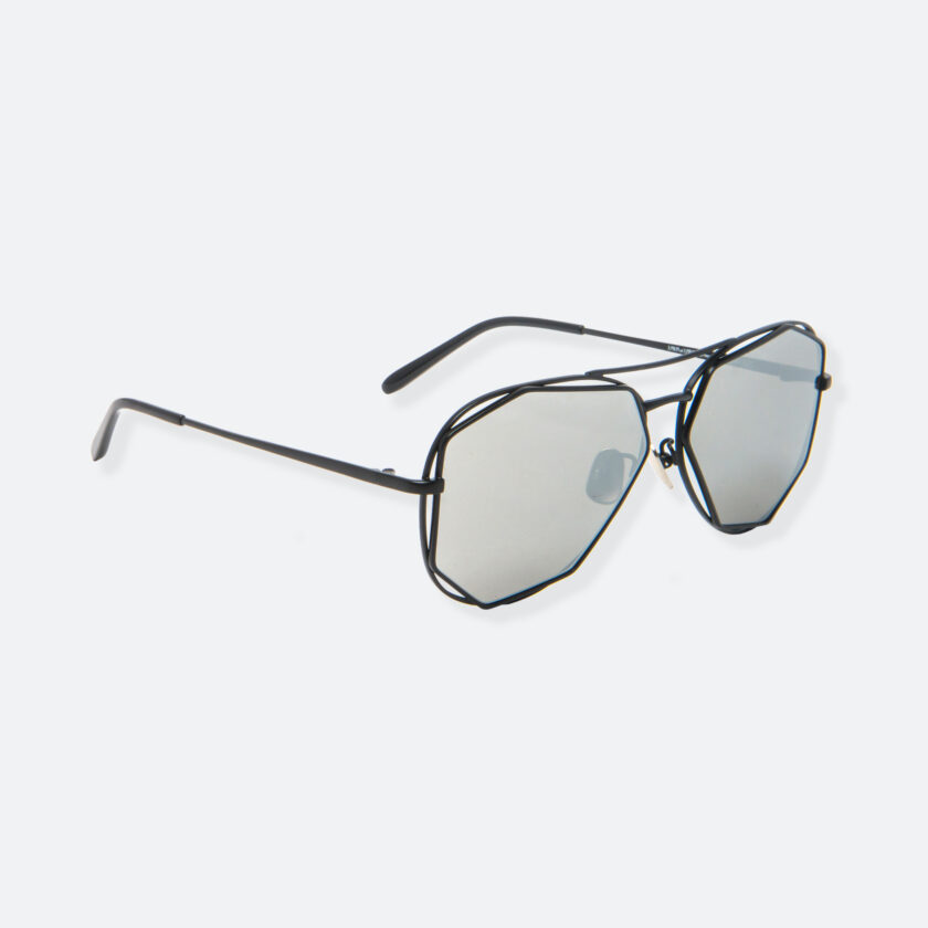 OhMart People By People - Aviator Sunglasses With Polarized Lens ( Big Eyes - Black ) 2