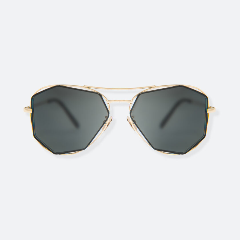 OhMart People By People - Aviator Sunglasses With Polarized Lens ( Big Eyes - Black / Gold ) 1